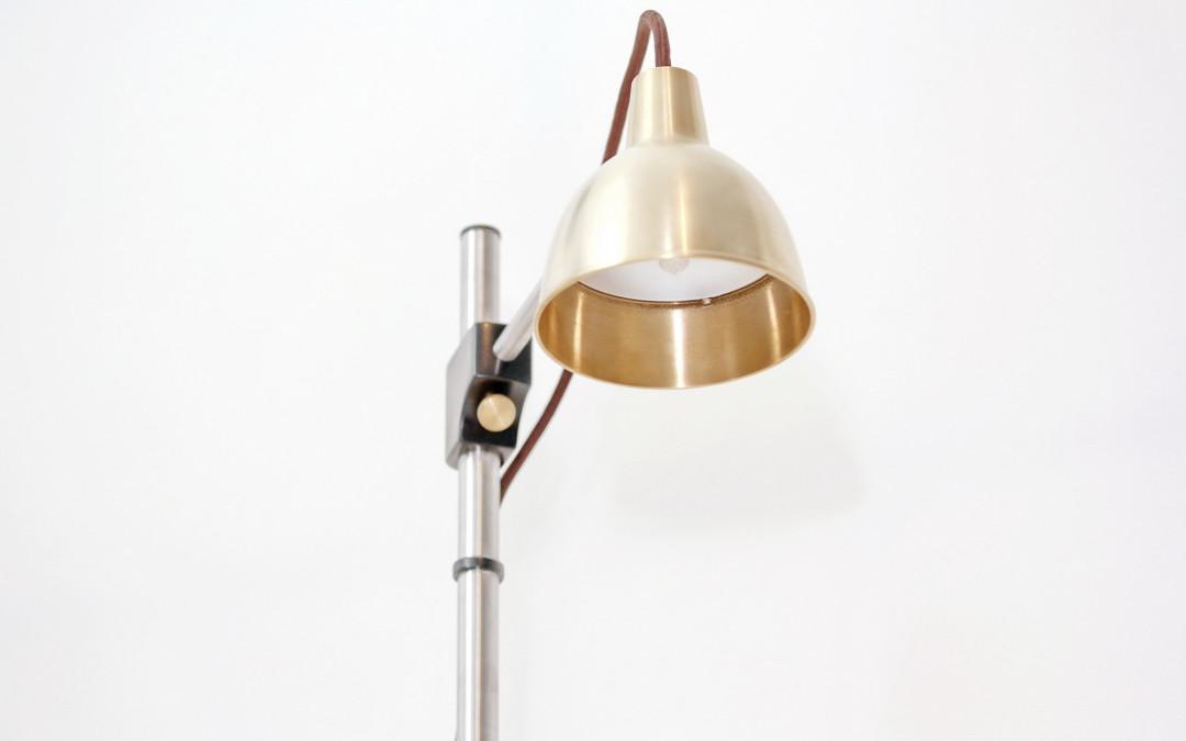 Lampe Messing & Edelstahl